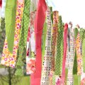 hanging summer fabric scrap garland