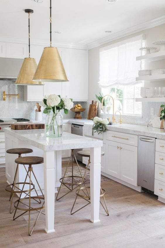 Fresh and Clean Kitchen Recreation