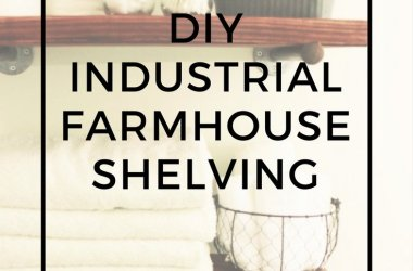 industrial farmhouse shelving
