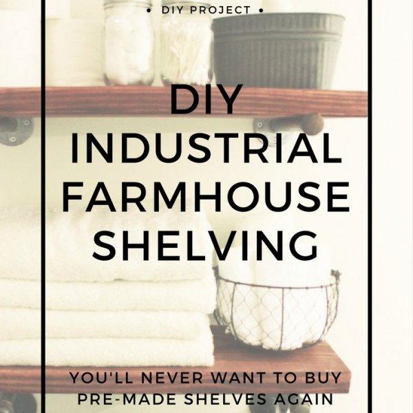 industrial farmhouse shelving