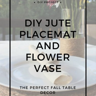 jute placemat table decor centerpiece