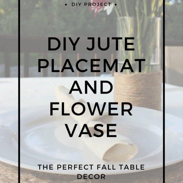 jute placemat table decor centerpiece