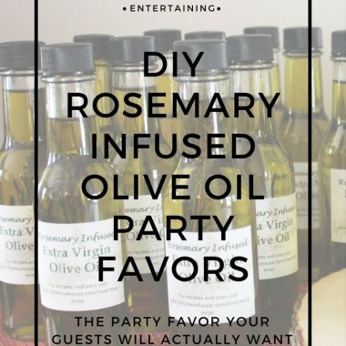 rosemary olive oil party favors