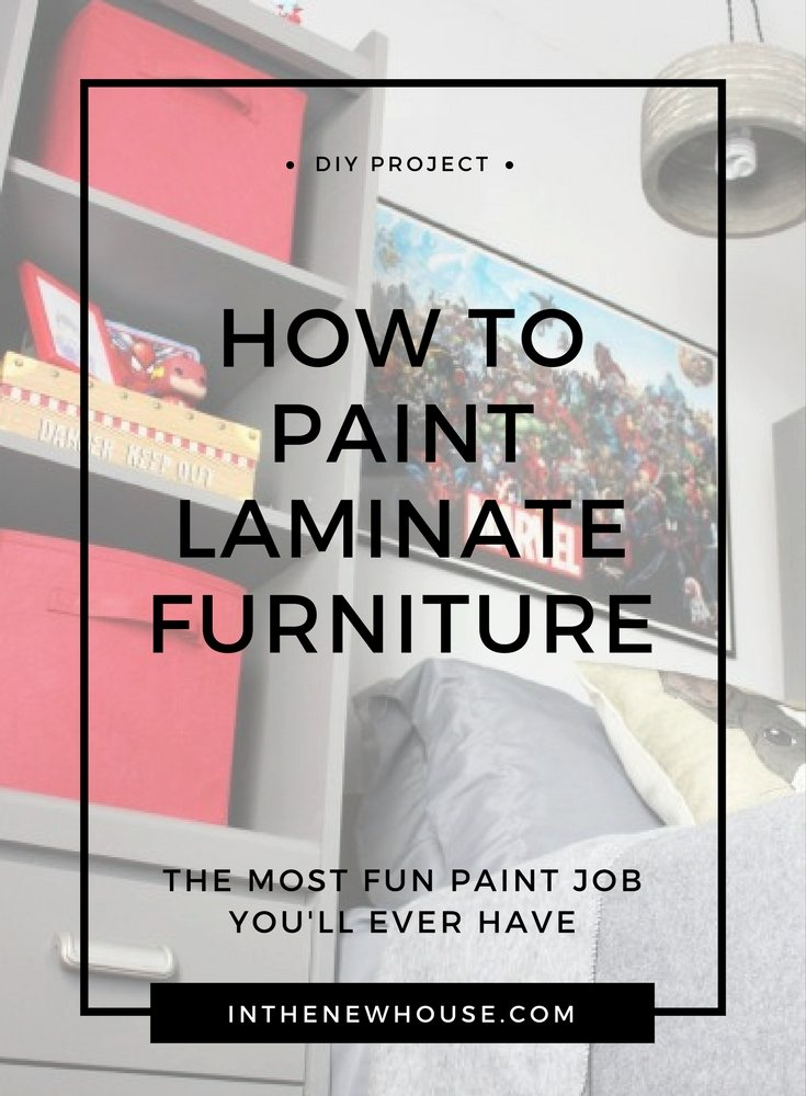 painting laminate furniture tutorial