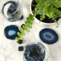 agate slice coasters for bar decor