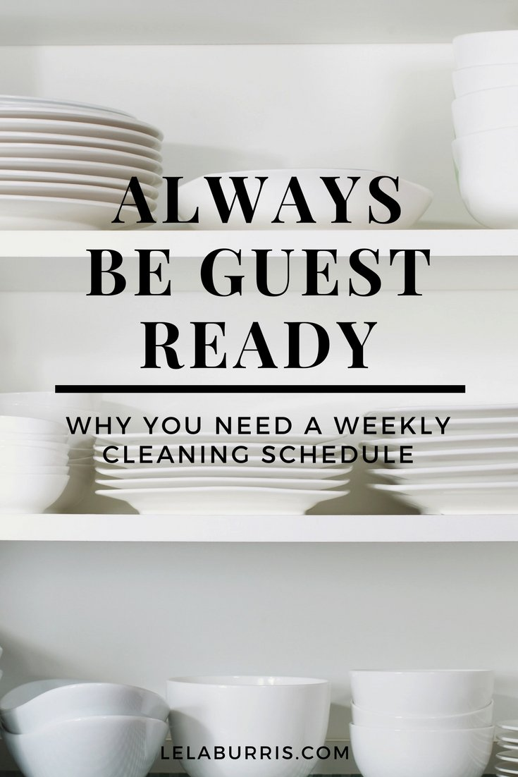 Why You Need A Cleaning Schedule