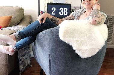cozy denim chair. Lela Burris In the New House Designs
