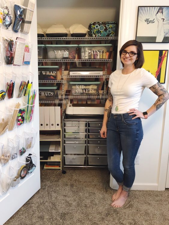 Lela Burris Craft Closet Makeover with Cricut
