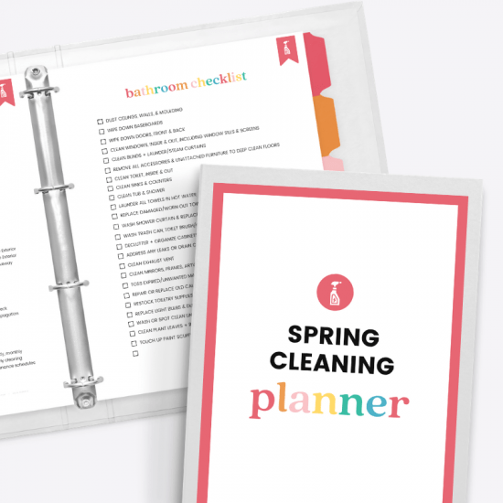 printable spring cleaning planner