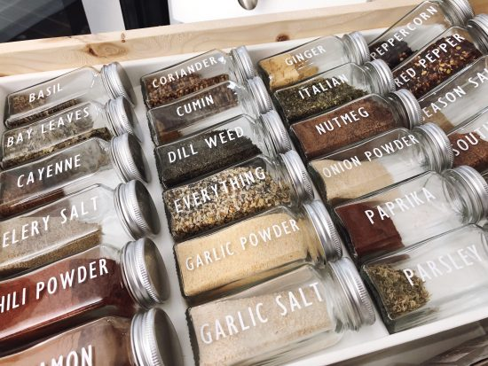 spice jar labels with cricut