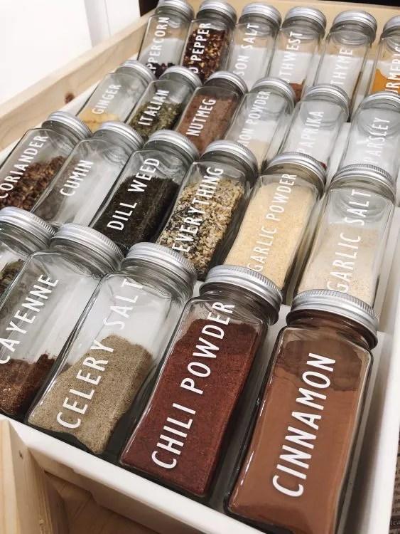 Cricut Maker spice jar labels
