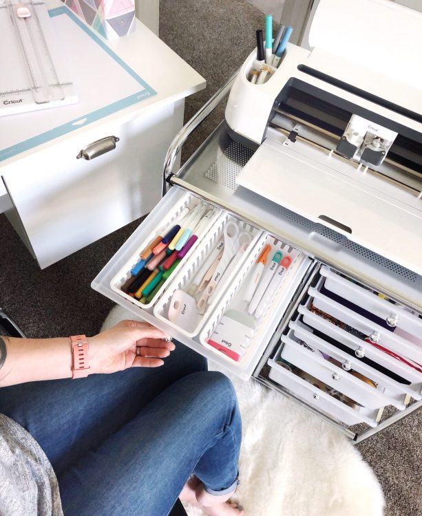lela burris organized office cart