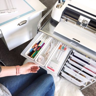 lela burris organized office Cricut cart