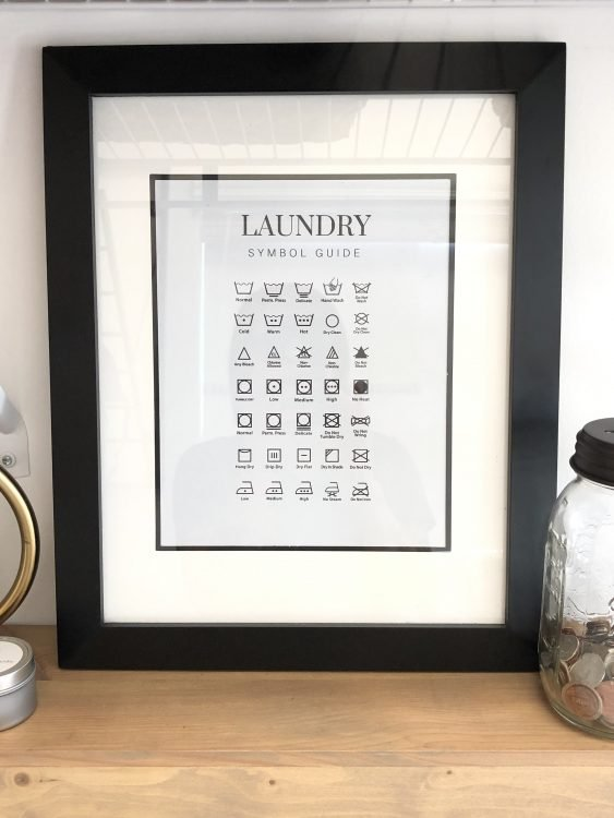 printable laundry symbol guide for laundry room art