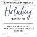 printable holiday planner kit