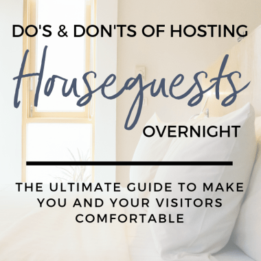 hosting overnight houseguests