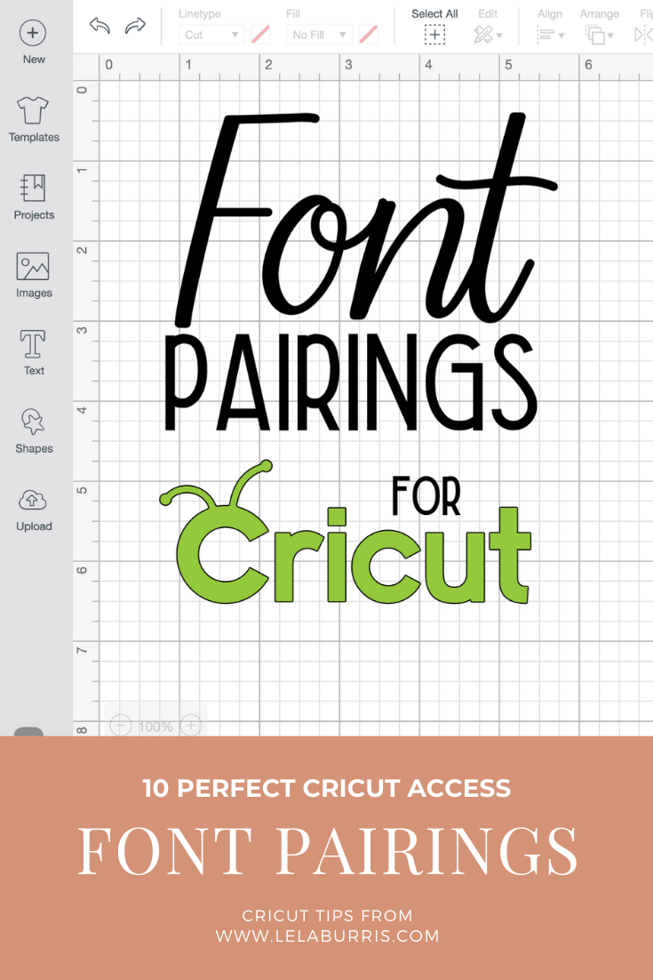 10 font pairings for Cricut Projects