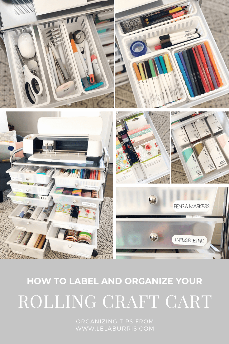 rolling craft storage cart organization