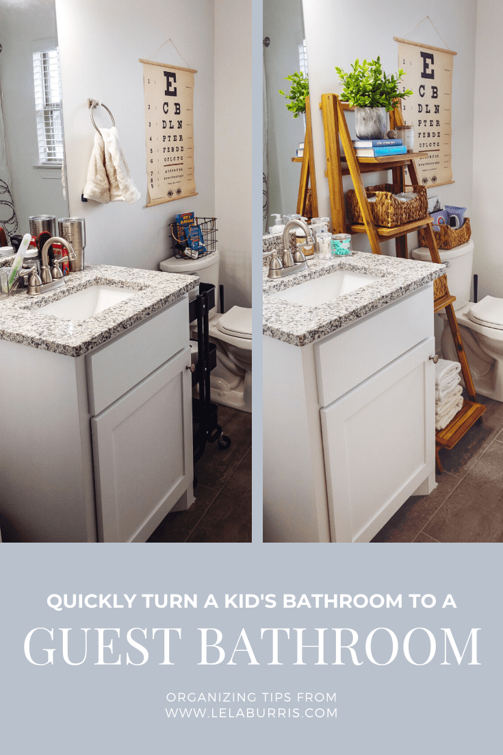 turn any bathroom into a guest bathroom quickly