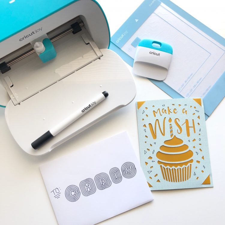 Cricut Joy birthday card and envelope