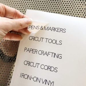 Cricut Joy craft storage labels