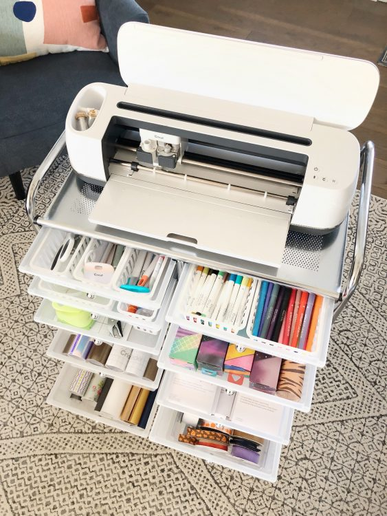 cricut storage cart organization