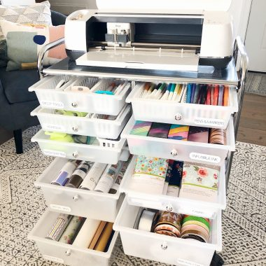 cricut maker cart organization by Lela Burris