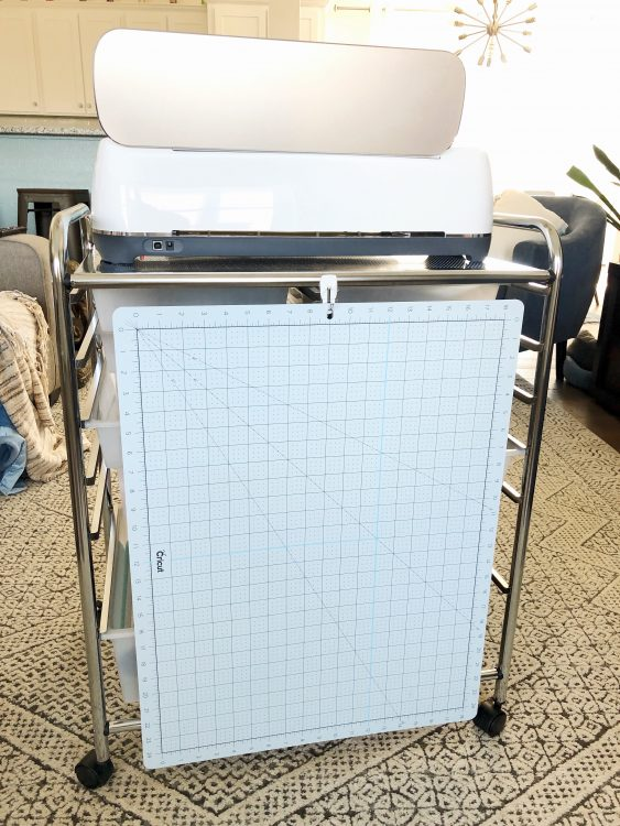 cricut storage cart and mat storage