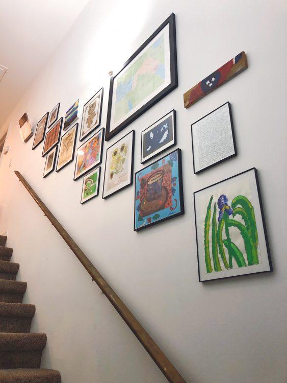 Lela Burris hallway kids art gallery