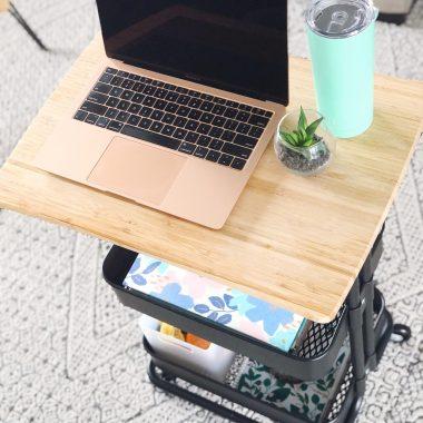 diy rolling desk