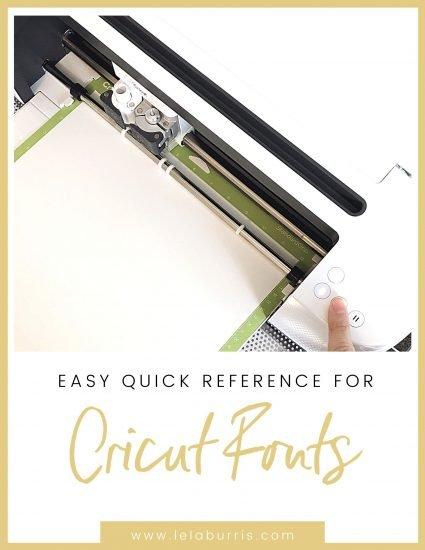 cricut font guide