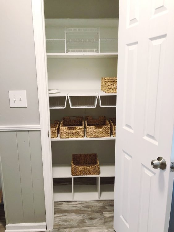 small deep pantry organization
