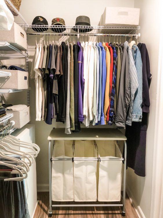 mens closet storage ideas