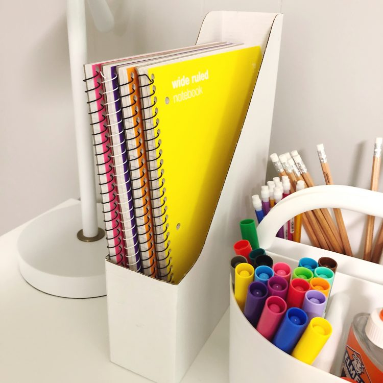 kids desk organization
