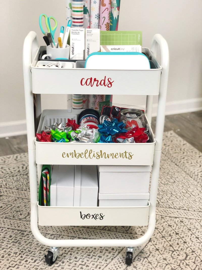 diy holiday gift wrap cart with cricut