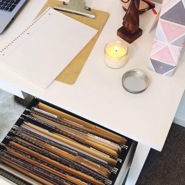 filing cabinet drawer paper clutter tips