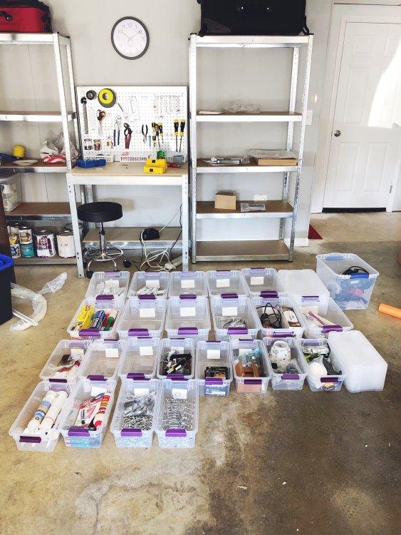 garage organization tips from Lela Burris