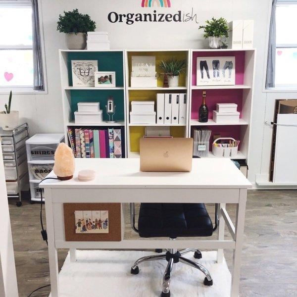 organized-ish office of Lela Burris