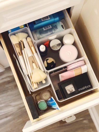 bathroom deep drawer organization