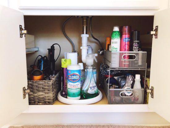 under bathroom sink organization