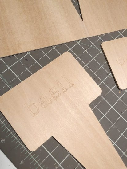 engrave words in wood with Cricut Maker