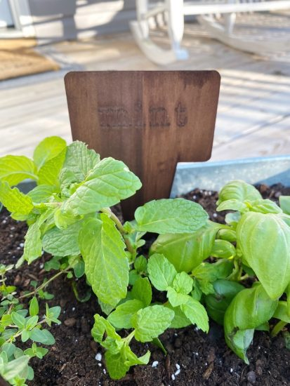 wooden garden markers stakes with cricut maker