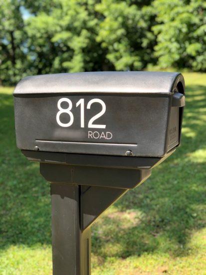 jumbo mailbox numbers with cricut outdoor vinyl
