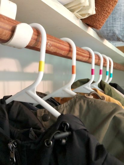 color coded coat hangers