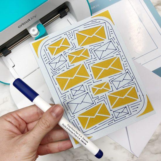 mail carrier card Cricut Joy