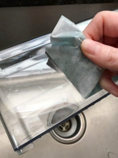 easy way to remove stickers from containers