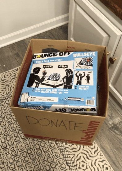 how to use a running donation box at home
