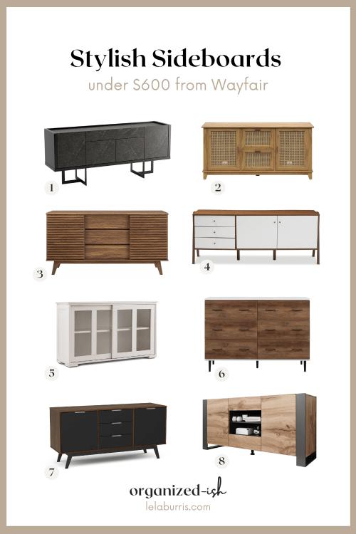 best modern sideboards from Wayfair under $600