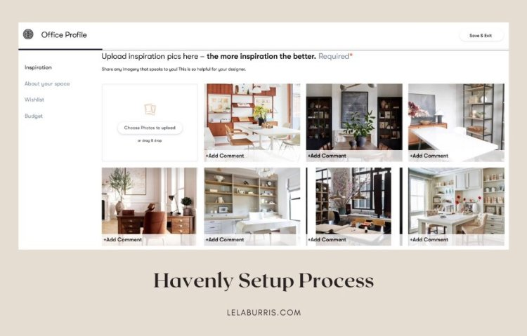 Havenly setup process review