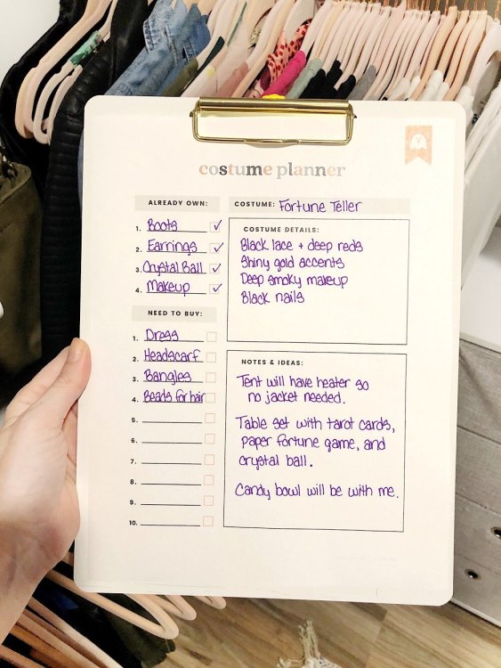 halloween printable planner